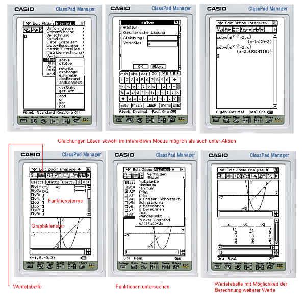 Schnellübersicht CLASSPAD 300 – RSG-Wiki