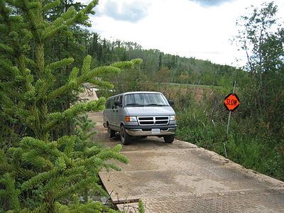 FEMA - 41665 - Van on a tundra road mat in Alaska.jpg