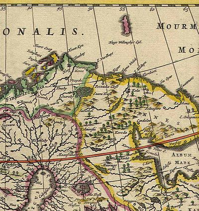 Kola Peninsula map from 1660.jpg